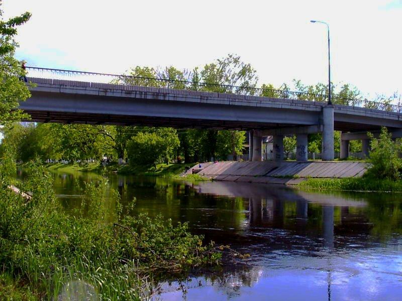 River ShСhara, Slonim. Belarus, Слоним