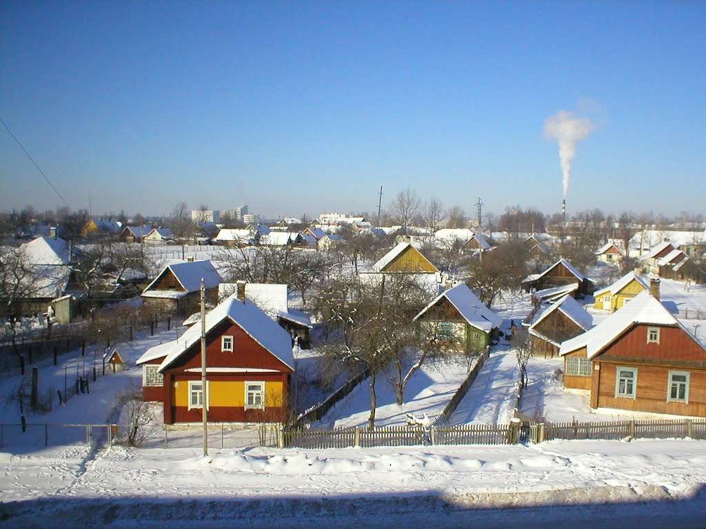 Зимний вид из окна на ул. Кутузова, Сморгонь