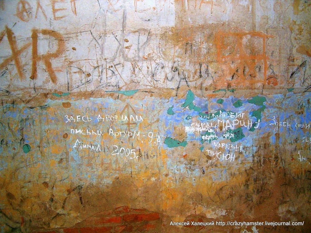 Надписи внутри усадьбы Потоцких, Березино