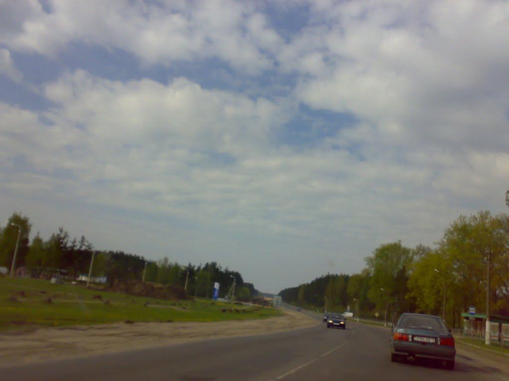 М-4 Минск-Могилев. На выезде из Березино, Березино