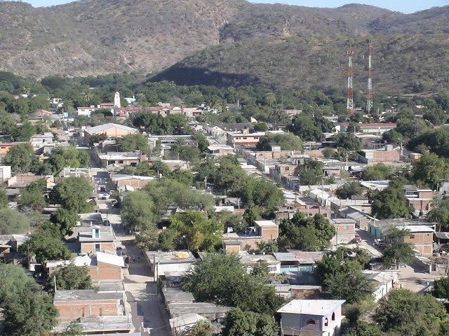 vista desde el cerro de la cruz atenango del rio, Текпан-де-Галина