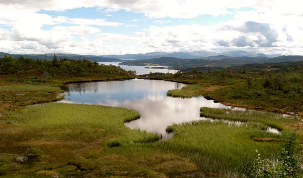 Utsikt mot Laksjøen, Боде