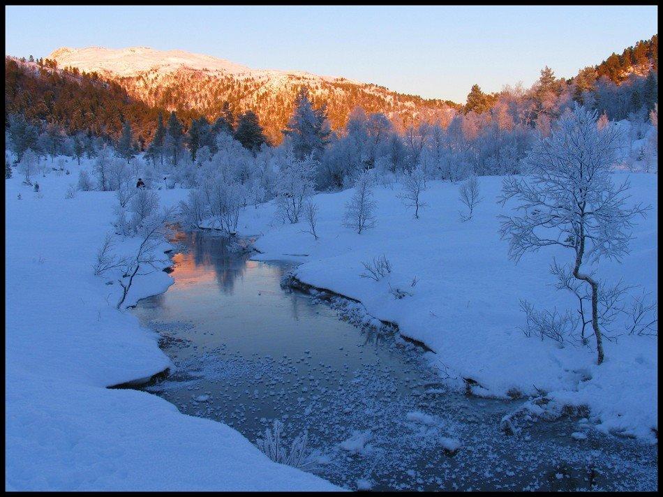 Sisste streif av sol. Norway, Молде
