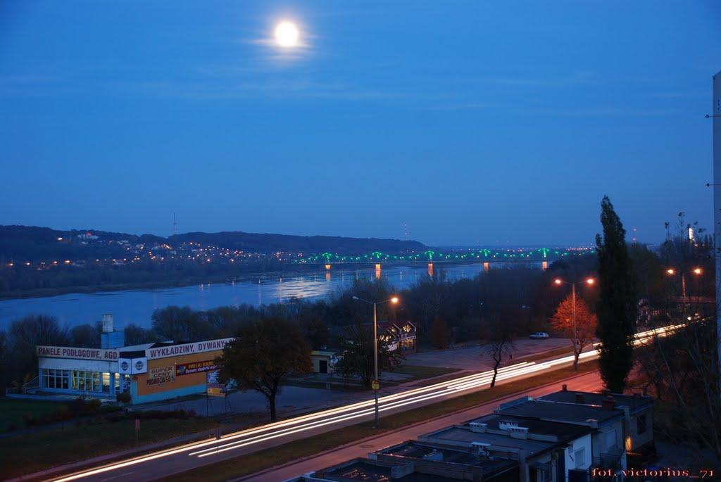 Włocławek - rzeka Wisła i most., Влоцлавек