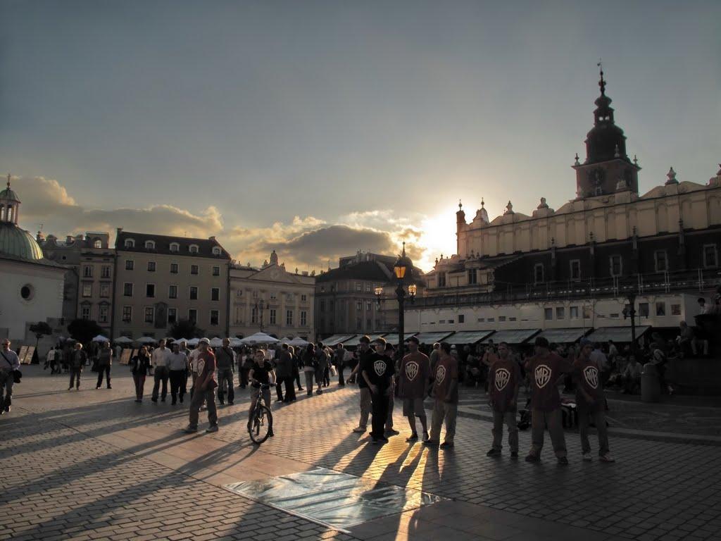 Kraków - rynek - sunset, Краков (ш. ул. Вроклавска)