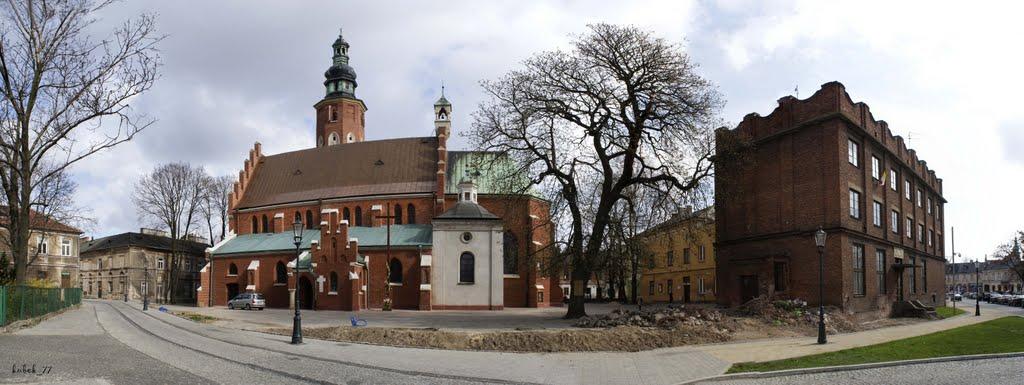 Radom, Kościół Farny pod wezwaniem św. Jana Chrzciciela - panorama, Радом