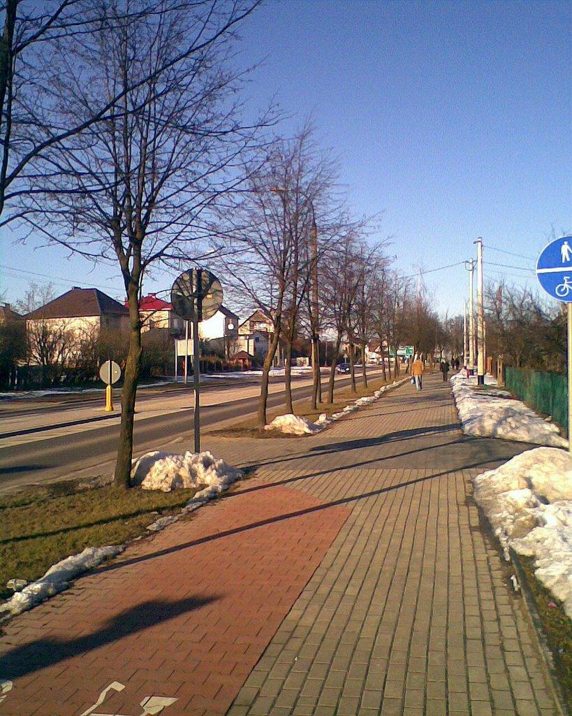 Bielsk Podlaski - ulica Piłsudskiego (Piłsuskiego street), Бельск Подласки