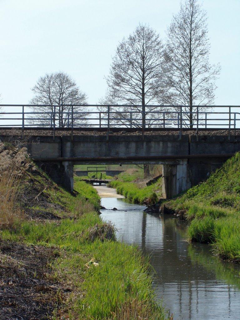 Most kolejowy na rzecze Kulikówka (kwiecień 2009), Замбров