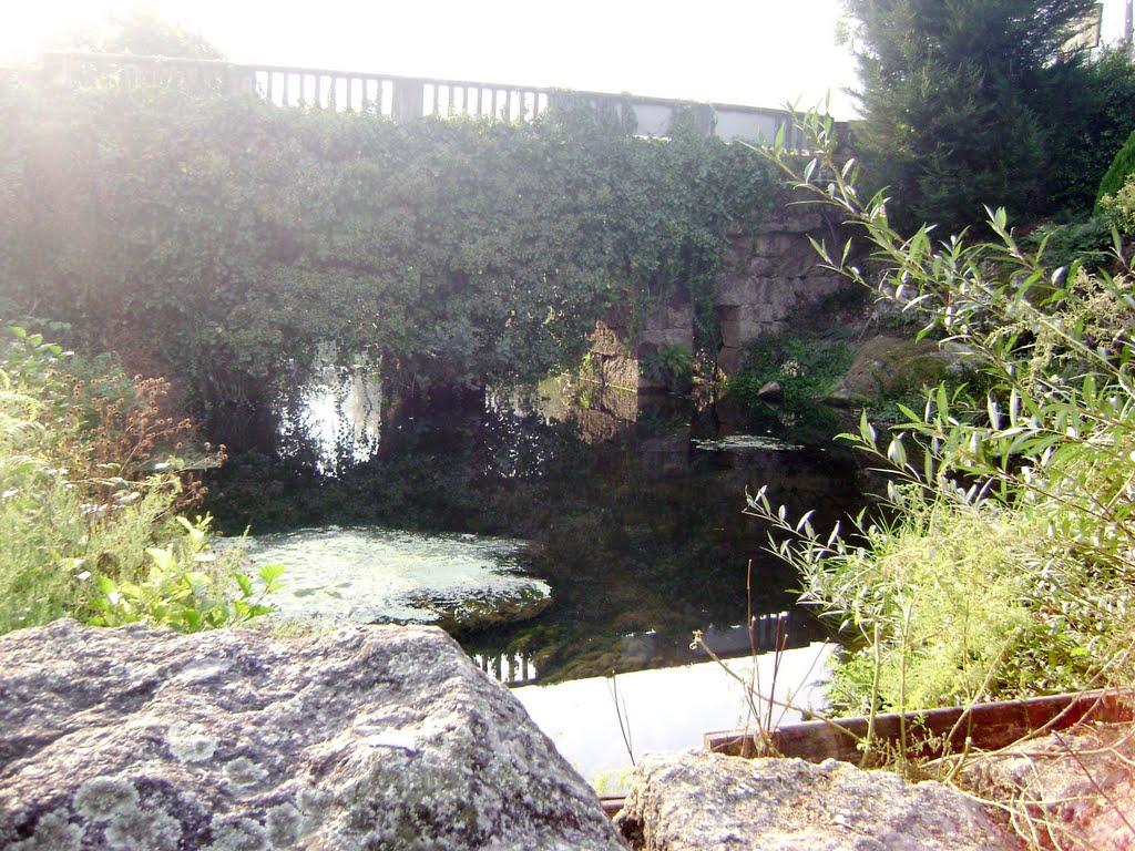 Ponte nova sobre o rio Este em Ruilhe, Braga, Брага
