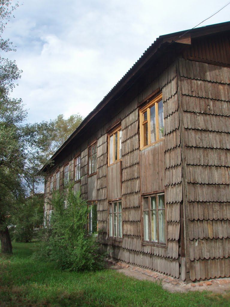 Unusual wooden house, Абакан