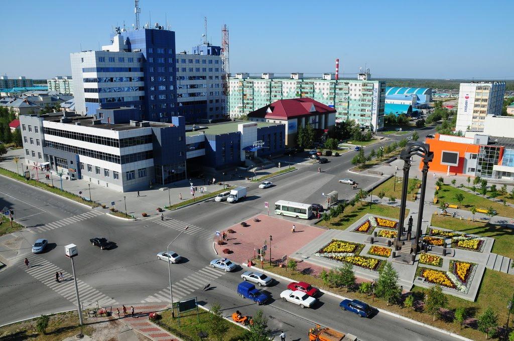 """центр города во всей красе(покраска """"зебры""""), Радужный"""