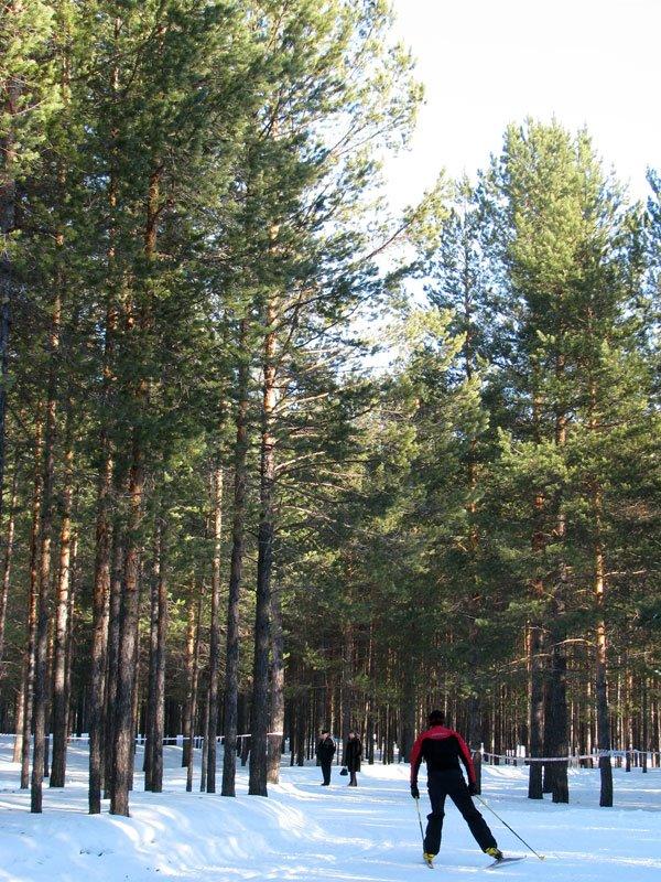 На лыжной трассе, Урай