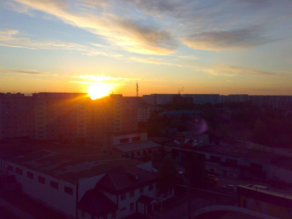 закат из окна, Мегион