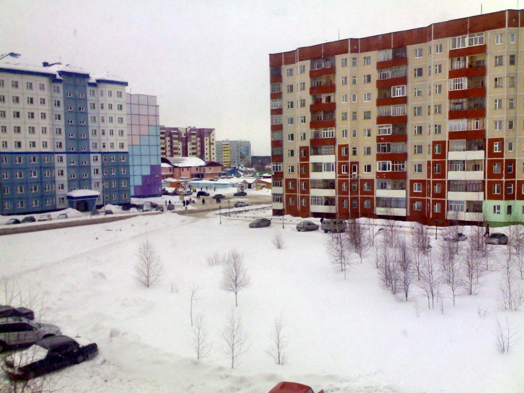 Вид из окна, Зима!, Излучинск