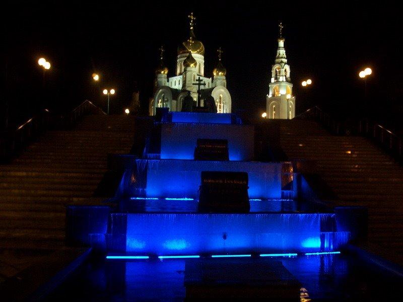 Храм ночью 2я ступень, Ханты-Мансийск