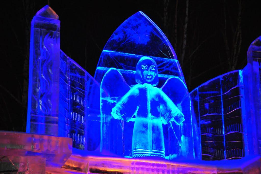 Веселый синий человечек, Ханты-Мансийск