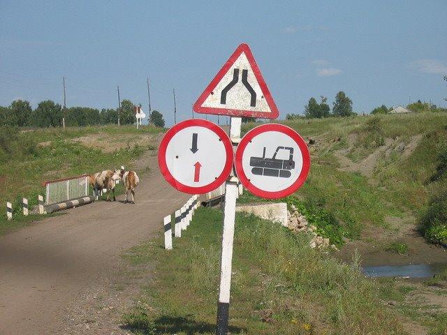 Необычные дорожные знаки / uncommon traffic signs, Акутиха