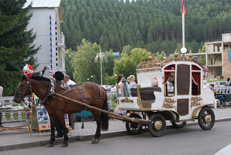 В карете по Белокурихе.Алтай, Белокуриха