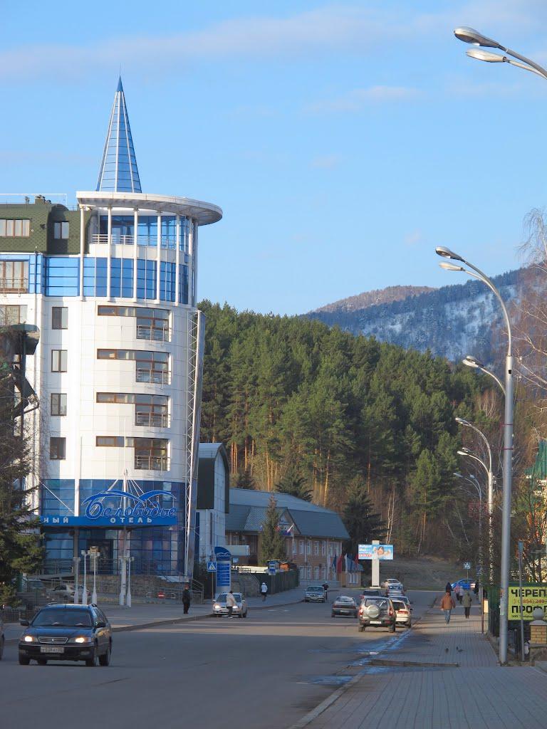 Белокуриха. Гостиничный комплекс Буловодье. Дальше начинается курортная зона, Белокуриха