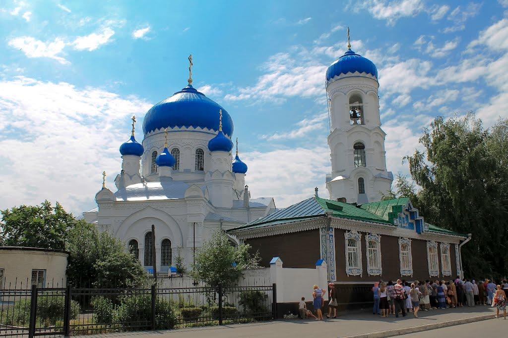 Успенский собор г. Бийск,прибытие  мощей Святителя Николая, Бийск