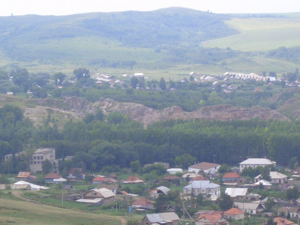 змеиногорск вид с маяка на горный, Змеиногорск