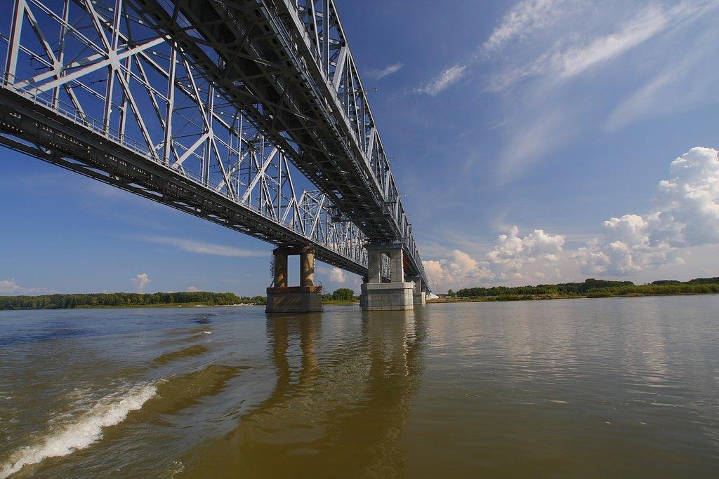 Мост через р. Обь старый и новый., Камень-на-Оби