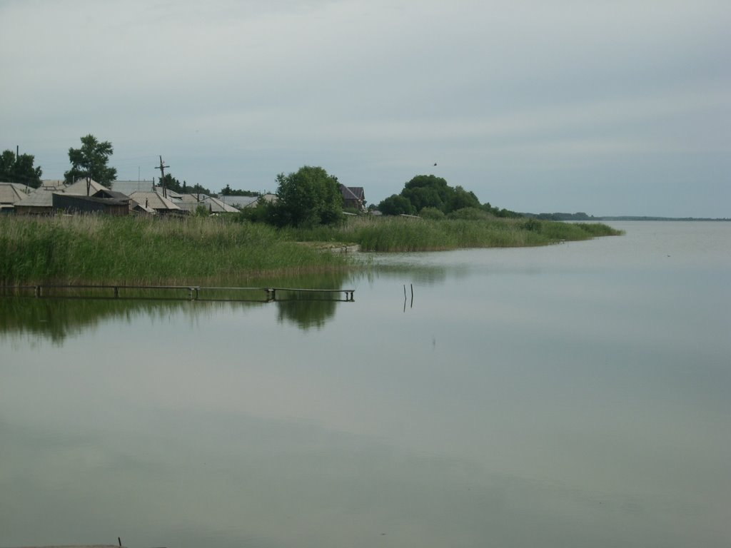 bolschoye ostrovnoye, vid s damby, Мамонтово
