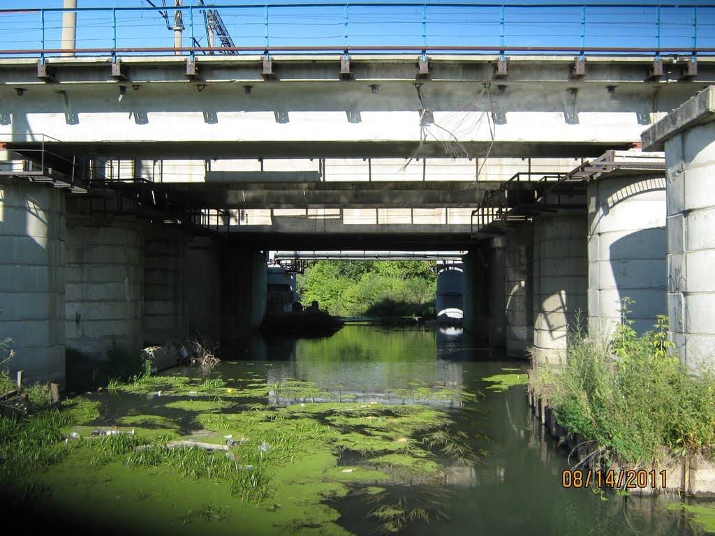 Речка под железнодорожным мостом, Новоалтайск