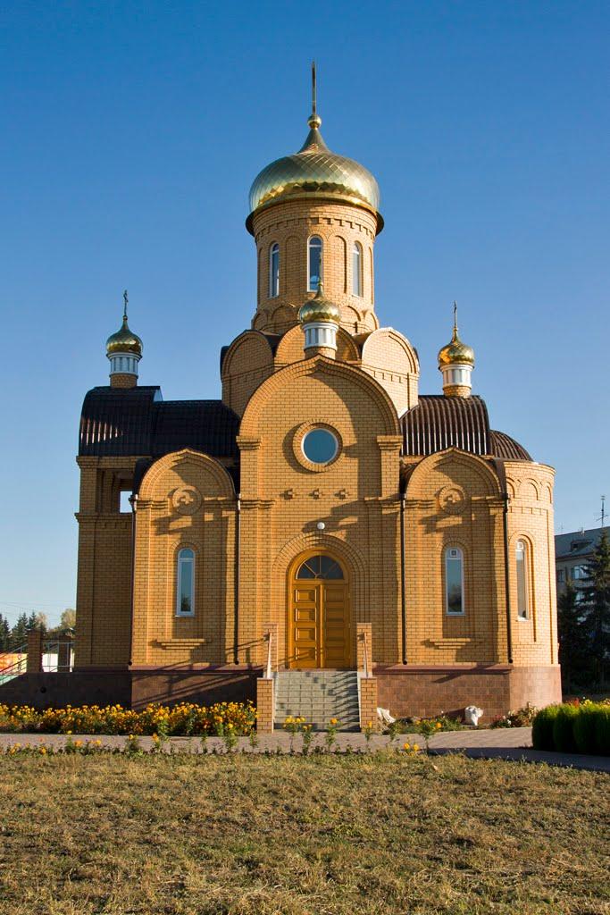 Храм на привокзальной площади Новоалтайска, Новоалтайск