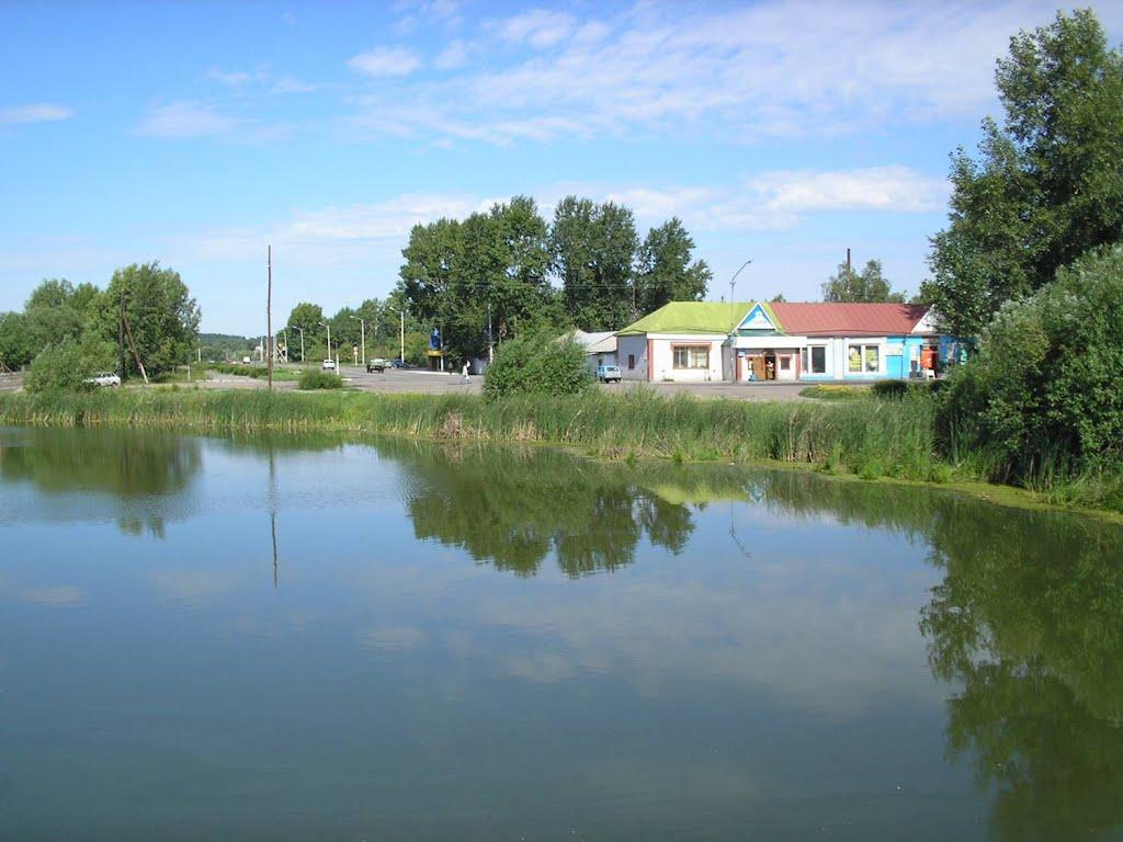 Пруд, вид с моста, Павловск