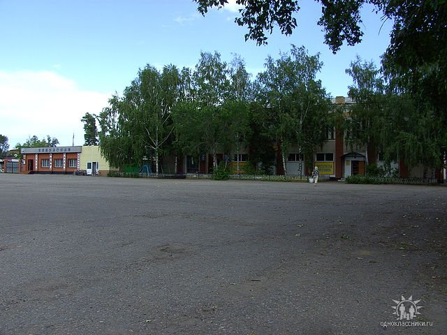 площадь перед бывшим универмагом, Ребриха
