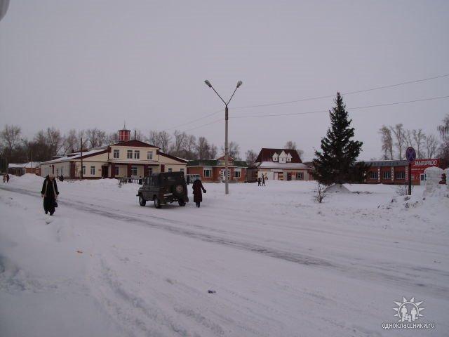 вид на РДК зимой, Ребриха