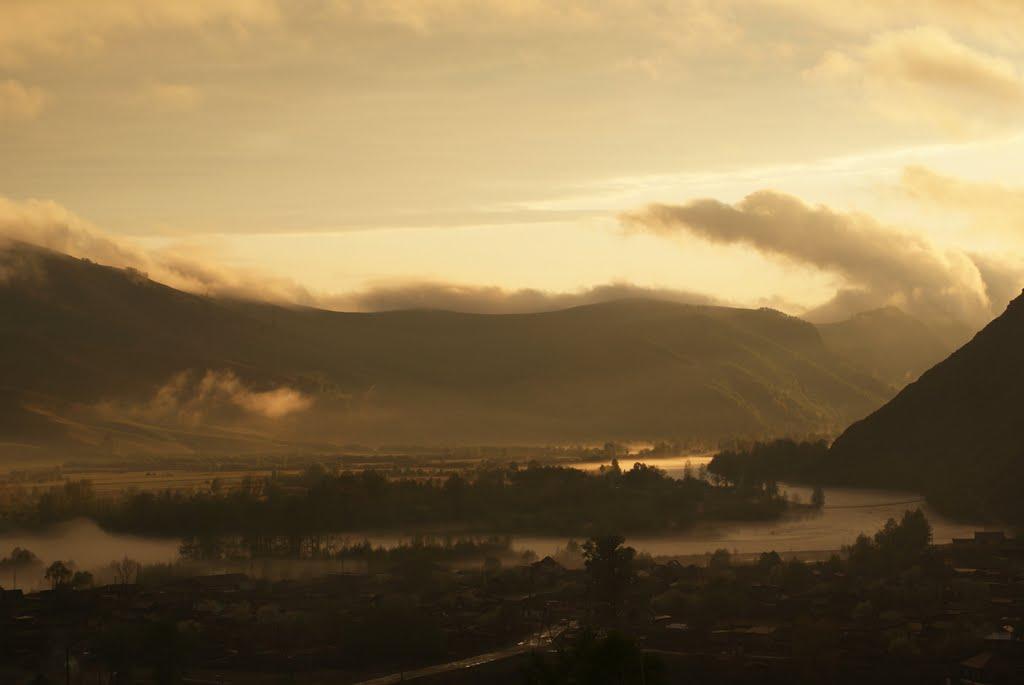 Вечерний туман, Чарышское