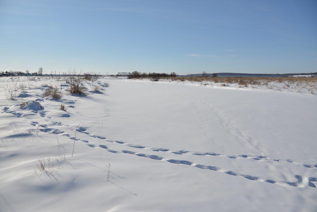 Ekaterinoslavka (2013-02) - River Ivanovka covered with snow, Екатеринославка