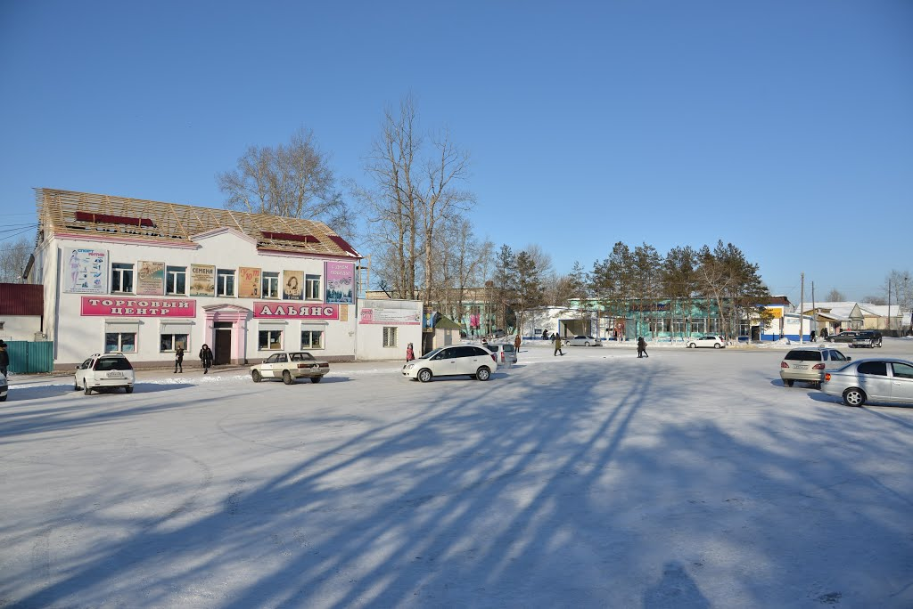 Ekaterinoslavka (2013-02) - Town view at center, Екатеринославка