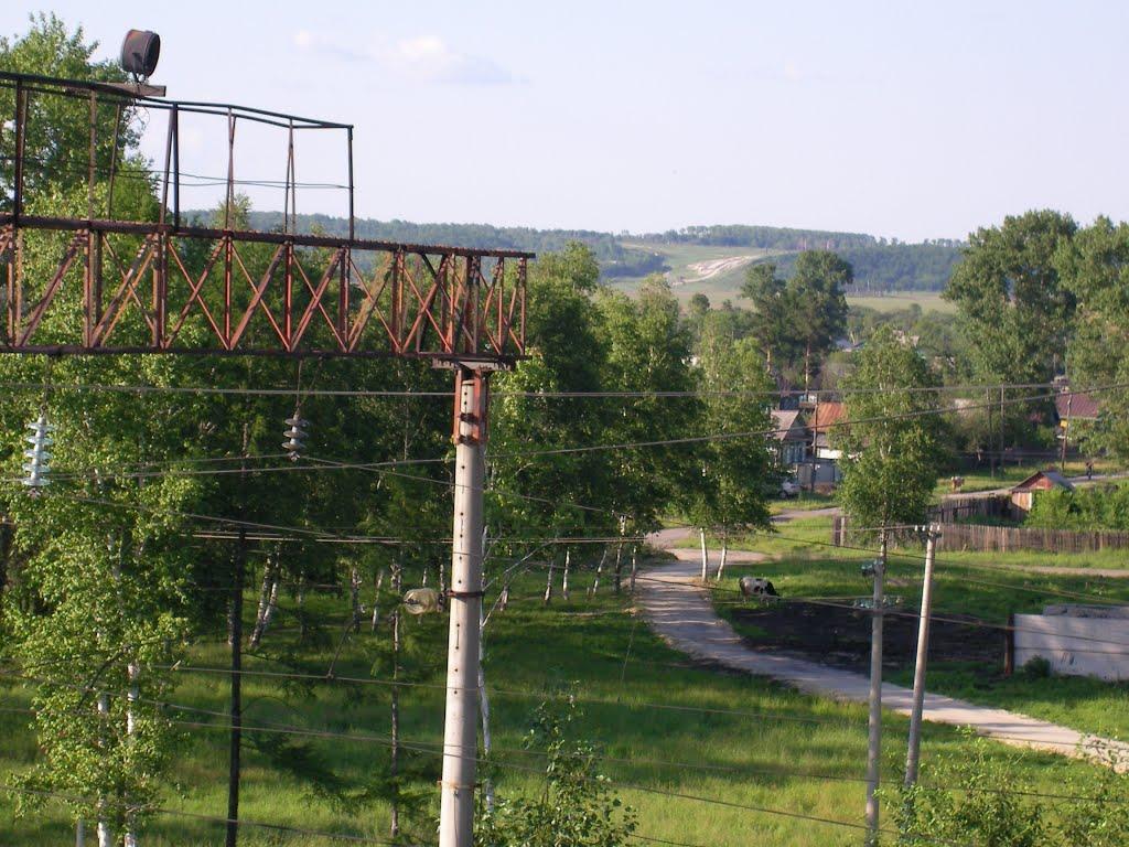 вид на залинейную часть города, Завитинск