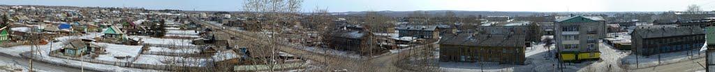 Панорама от ул.Дзержинского на восток, Магдагачи