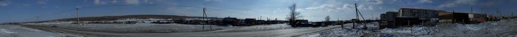 Сопки, нижний поселок, за нижним городком, панорма 360, Магдагачи