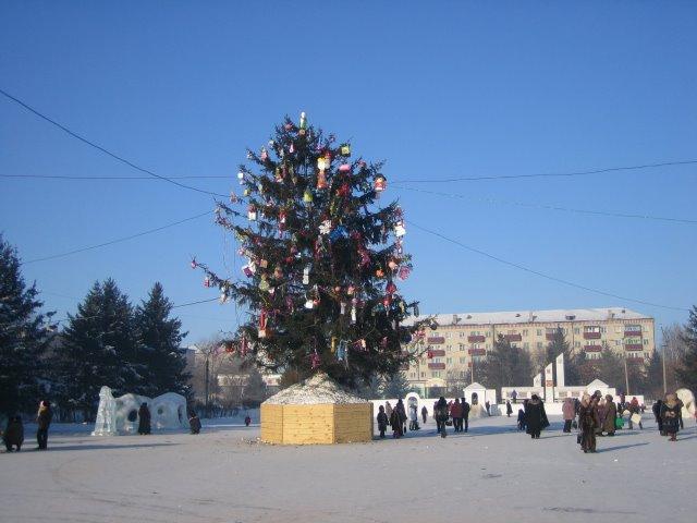 Center Svobony Square, New Years Day, Свободный