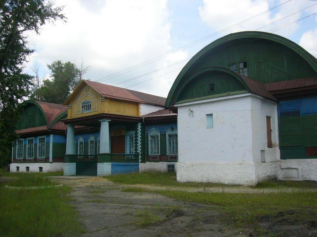 Клуб железнодорожников. Парадный вход, Шимановск