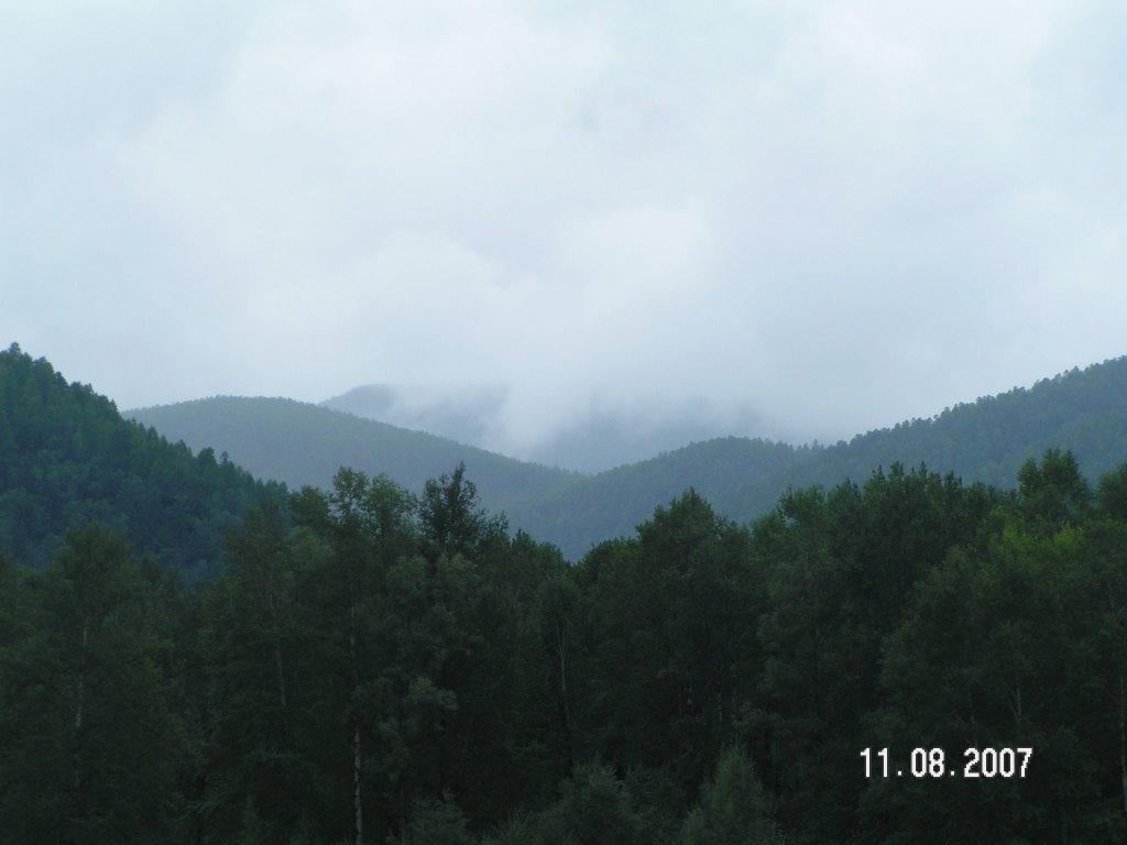 вид гор, Экимчан