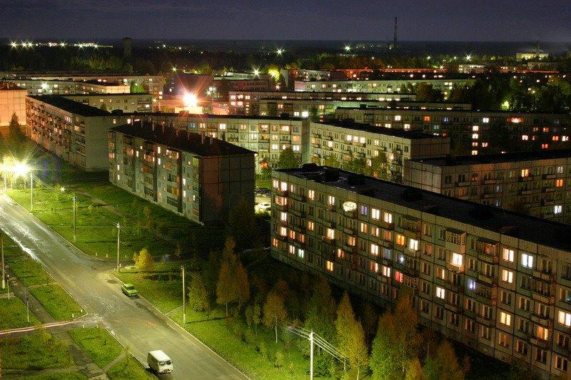 Ночной Мирный. Советская., Мирный