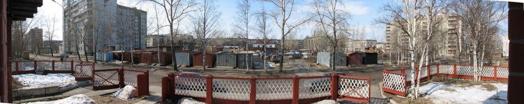 панорама из офиса на Новгородском 176, Архангельск