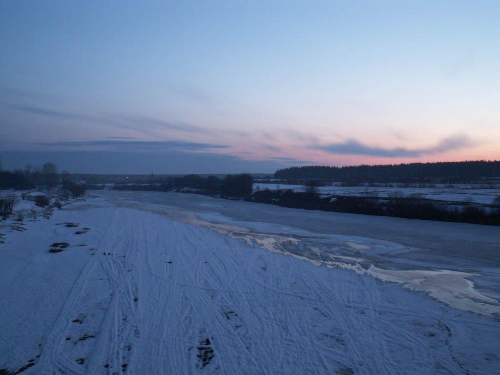 Река Вель с моста, Вельск
