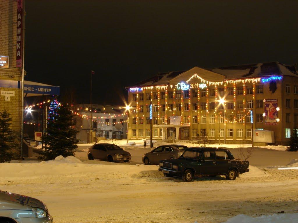 Площадь со стороны гостиницы, Котлас