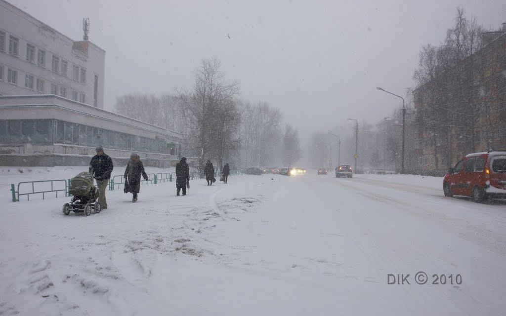 Снегопад, Северодвинск