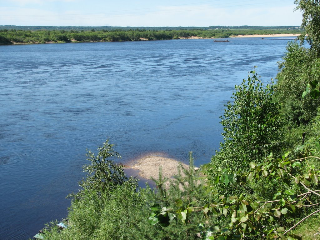 river Vaga, view from park, Шенкурск