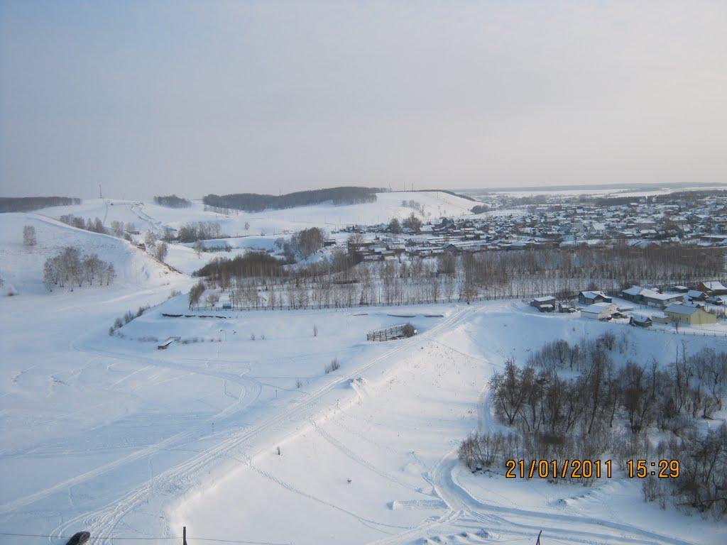 Пруд зимой, Киргиз-Мияки