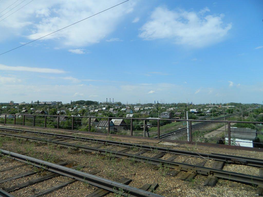 Вид со второго трамвайного моста (Салават), Салават