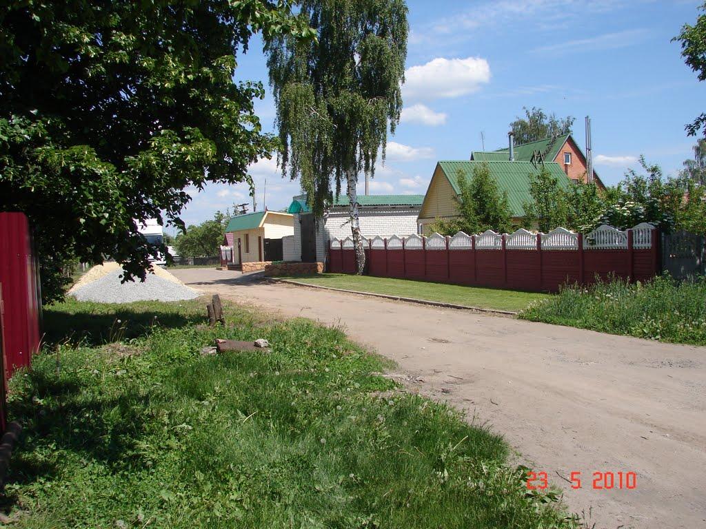 вид на дорогу и строительный магазин, Комаричи